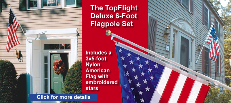 SunSetter Deluxe 6-Ft. Flagpole Set