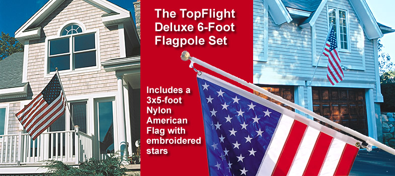 SunSetter Deluxe 6-Foot Flagpole Set