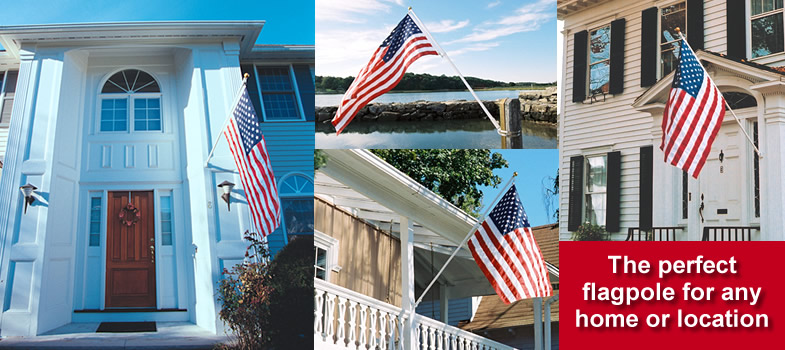 The Deluxe 6-Ft. TopFlight Flagpole Set is the finest flagpole set of its kind available today