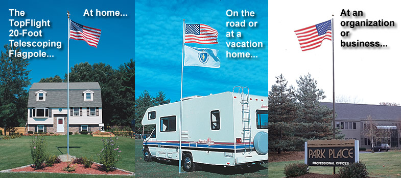 Click here to learn about our 20 Ft. Telescoping Flagpole