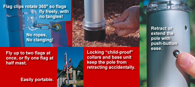 Click here to see the features and benefits of our 20 Ft. Telescoping Flagpole